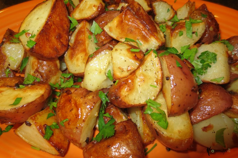 #garlic roasted potatoes