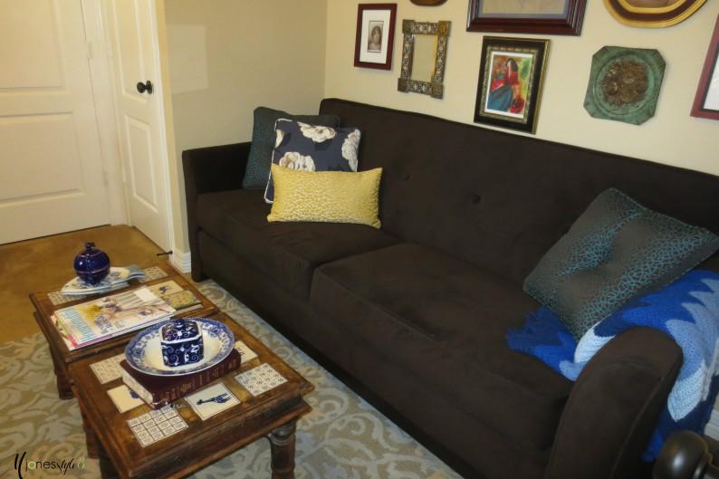 #brown sofa