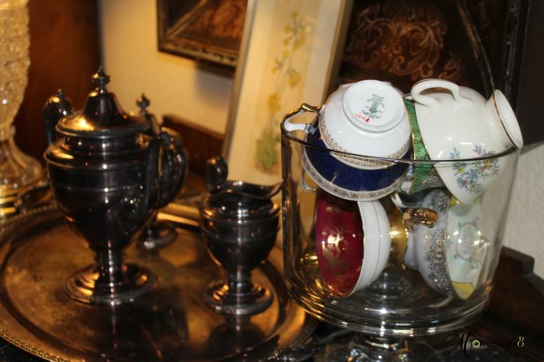 #vintageteacups#vintagedecor#eclecticdecor