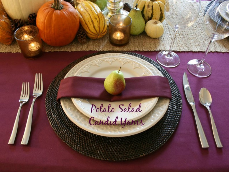 thanksgiving center piece purple