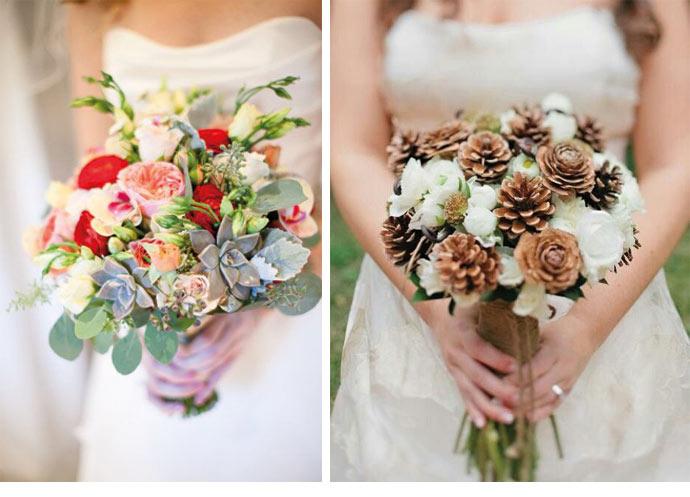 Bouquet De Mariage Saison Automne : Bouquets de fleurs d hiver mlle bride