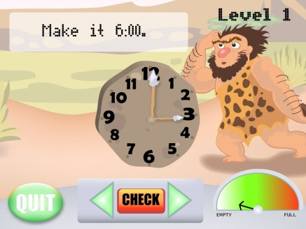 Learn to Tell Time Education Game Level 1