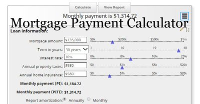 Mortgage Calculator with Taxes and Insurance PITI | MLS Mortgage