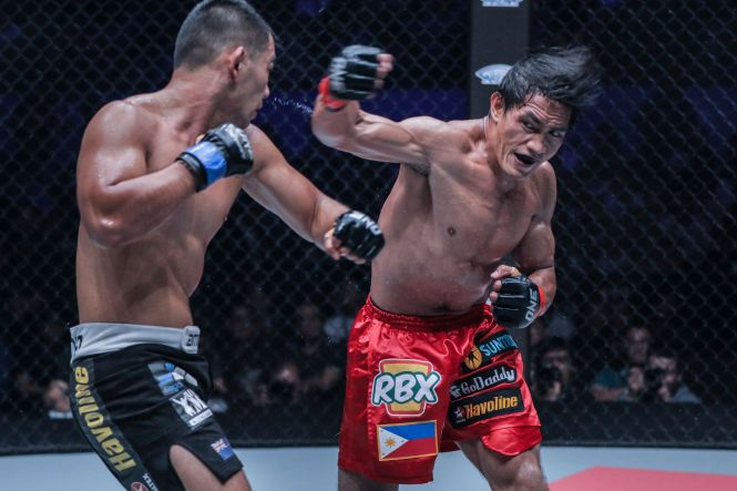 Folayang defended his lightweight title in a five-round war against Ev Ting.