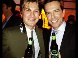 Taylor Hanson and Ed Helms