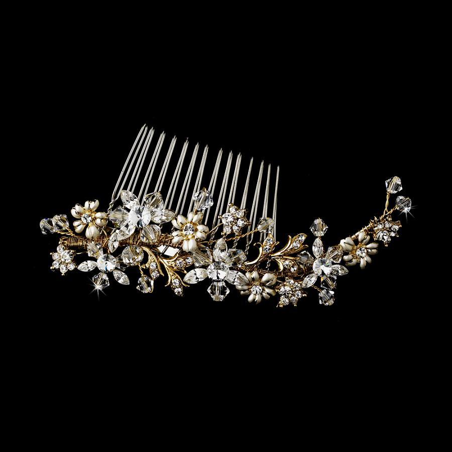 swarovski bridal comb wedding hair combs