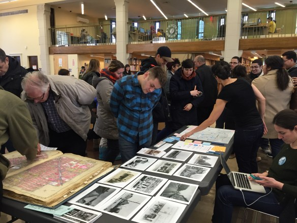 Interactive local history with the Urban Memory Project at Ridgewood Library in January 2016.