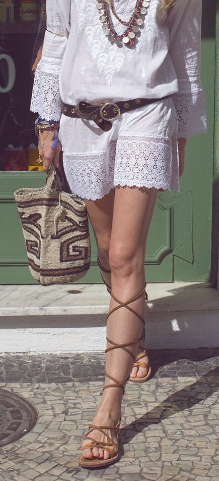 sandals and white
