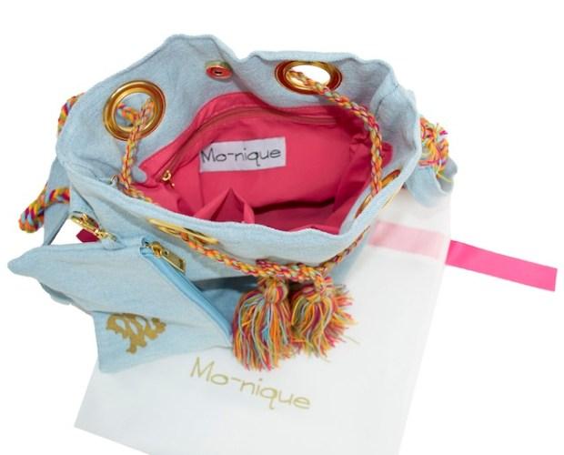 Mo-nique bag inside with extra small bag
