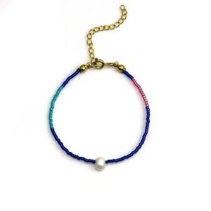 Miyuki bracelet Blue Pink Turqoise Pearl