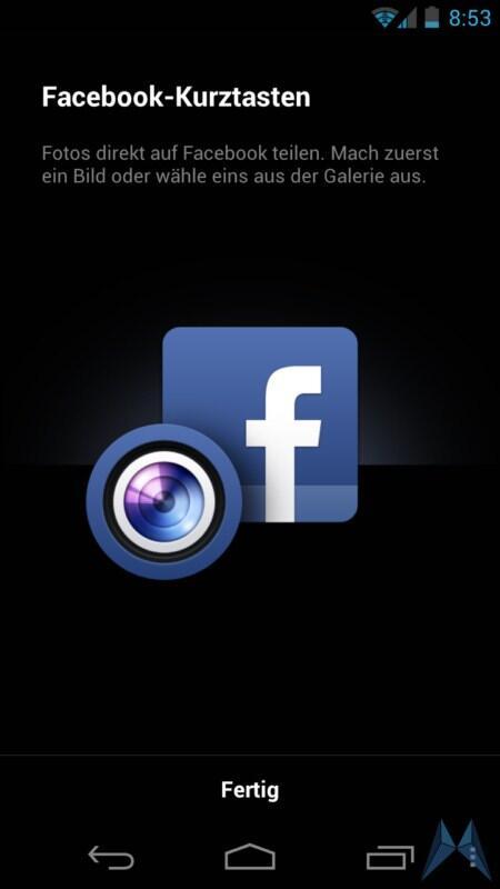 facebook f r android neue version bringt kurzwahl zum teilen von fotos und nachrichten. Black Bedroom Furniture Sets. Home Design Ideas