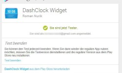 Google Play Beta Programm Dashclock Widget