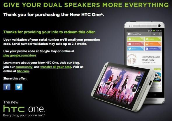 HTC One 25 $ Aktion