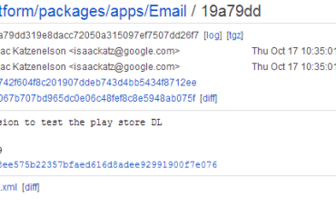 Android E-Mail-App Play Store Code Commit