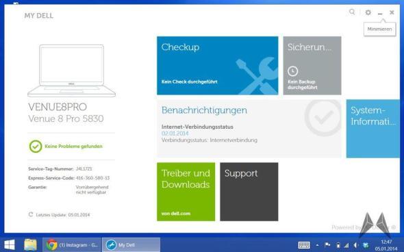 My Dell Venue 8 Pro Treiber Update