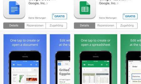 google docs tabellen ios apps