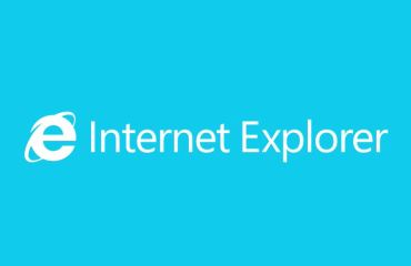 Internet Explorer Logo Header