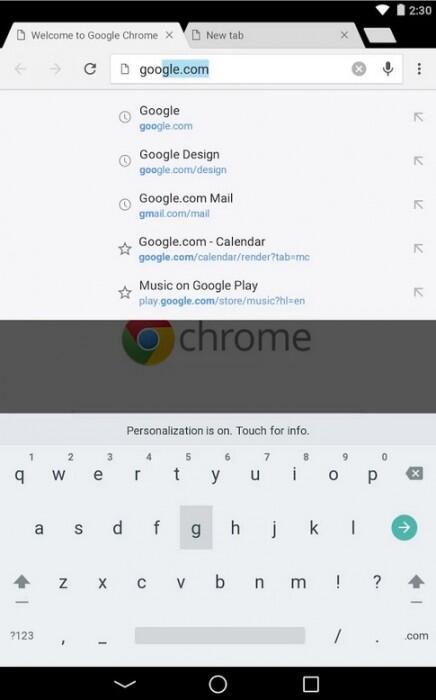 android L tastatur hell