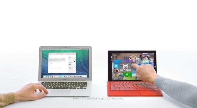 surface pro 3 macbook air Werbung