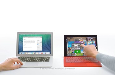 surface pro 3 macbook air Werbung