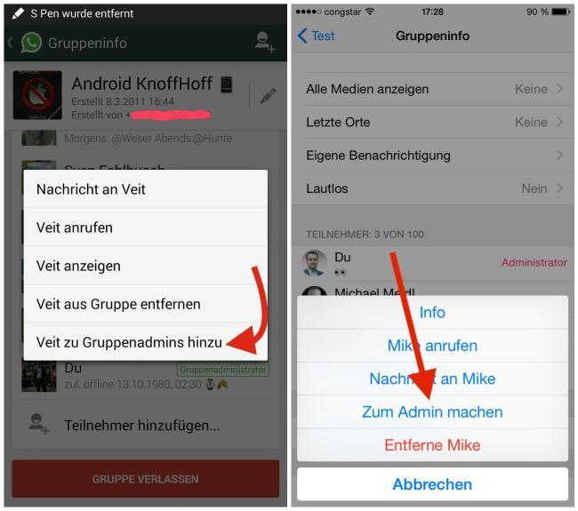 whatsapp gruppen admin festlegen ändern