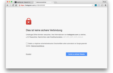 instagram server fail sicherheit