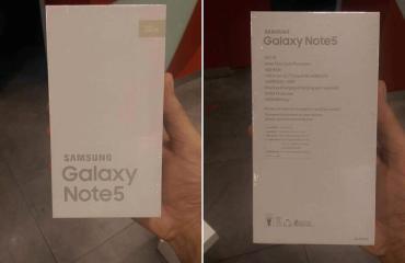 Samsung Galaxy Note 5 Verpackung