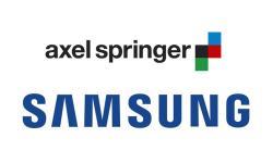 Samsung Axel Springer Logo Header