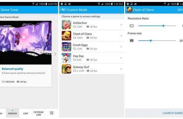 Samsung's Game Tuner App
