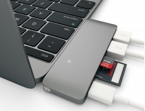 Satechi Type-C USB 3.0 3 in 1 Combo Hub for New MacBook 12-Inch (with USB -C Charging Port) (Space Grey) - Hubs - Connectivity - Computer - Google Chrome 2016-01-08 15.42.02