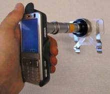 Kamerakännykkä -mikroskooppi