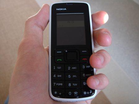 Nokia 3110 Evolve kädessä