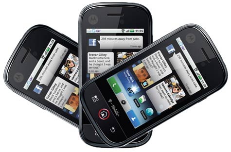 Motorola Android-puhelimia