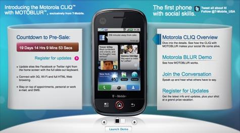 Motorola CLIQ tilaus
