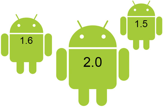 Android 1.5, 1.6, 2.0