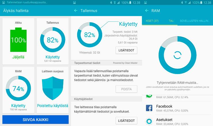 Galaxy S6 Älykäs hallinta