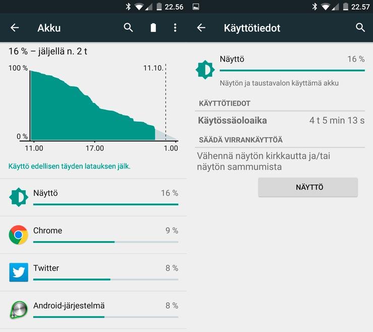 OnePlus 2, akkukesto