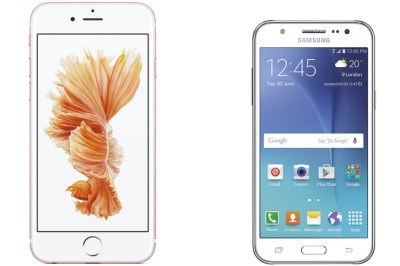 iPhone 6s ja Galaxy J5