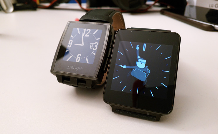 Pebble Steel ja LG G Watch