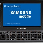 Samsung Mobile Phone Reset
