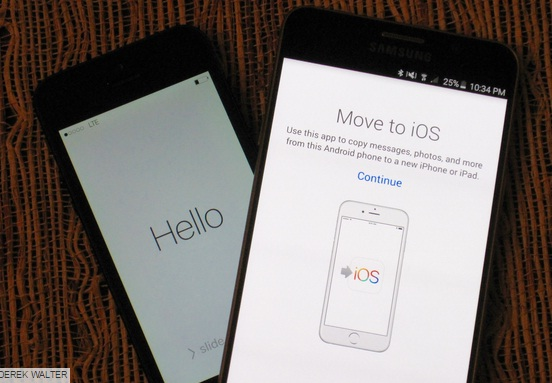 Move to iOS application transfer data from Android to iOS