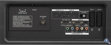LG 42 LT 75 - Connection Panel