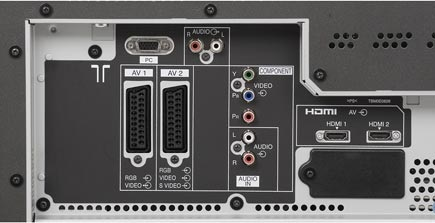 Panasonic TH-42 PV 71 F - Connection Panel