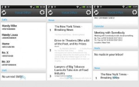 Voice Infos – Listen to YOUR Information – Text to speech Android app