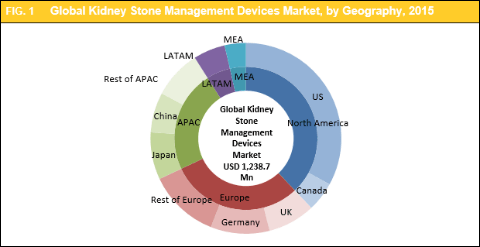 Global Kidney Stone Management Devices Market to Reach Worth USD 1,713.0 Mn by 2022: Rising Prevalence Kidney Stones and Recurrence Market Growth - Credence Research