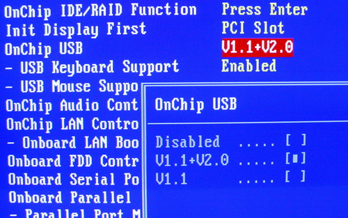 Onchip usb enable
