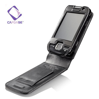 Capdase Classic Leather Flip Case for Samsung S5600