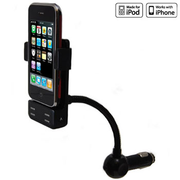 KitPerfect In Car FM Transmitter For iPod And iPhone