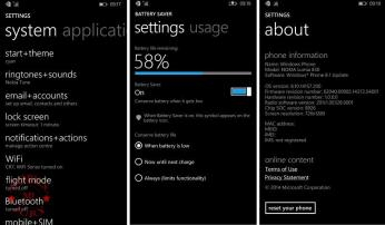 Nokia Lumia 830 Review Settings