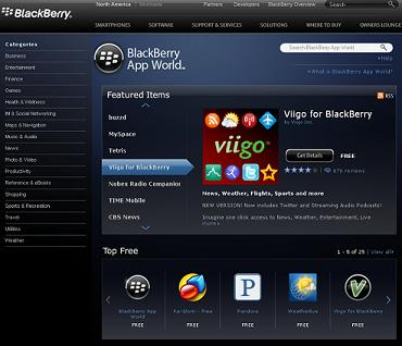Surf the BlackBerry App World on Your Computer